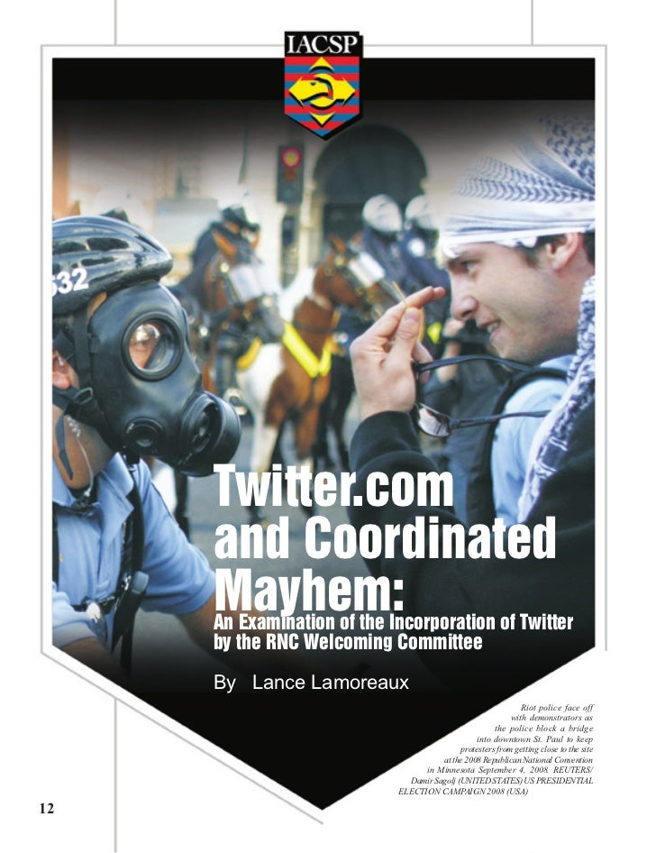 www.thejournalofcounterterrorism.org                                   Twitter.com                               and Coord...