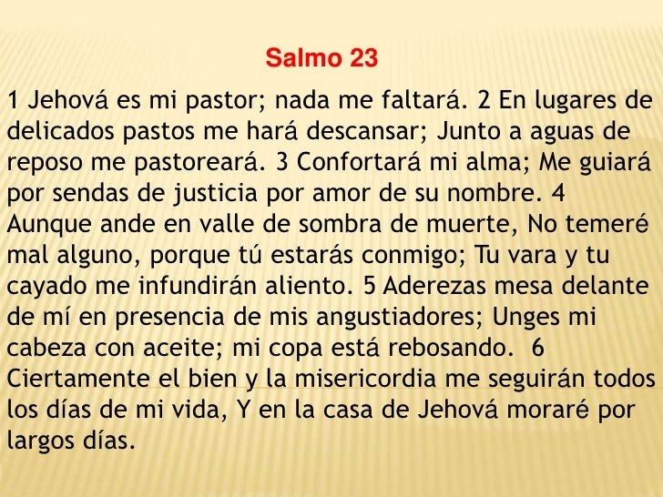 Resultado de imagen para salmo 23