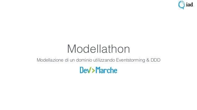 Modellathon Modellazione di un dominio utilizzando Eventstorming & DDD