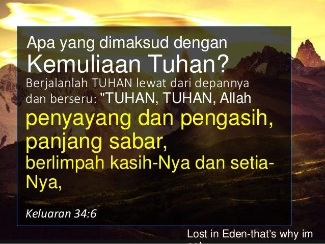 """yang membalaskan kesalahan bapa kepada anak- anaknya dan cucunya, kepada keturunan yang ketiga dan keempat."""" Keluaran 34:7..."""