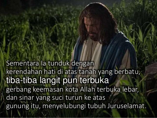 Musa mewakili orang-orang setia yang telah mati & akan keluar dari kubur pada saat kebangkitan orang benar