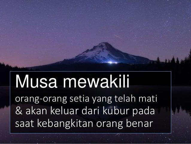 Di atas Gunung Pisgah, 15 abad sebelumnya, Musa telah berdiri sambil memandang ke Tanah Perjanjian. Tetapi karena dosanya ...