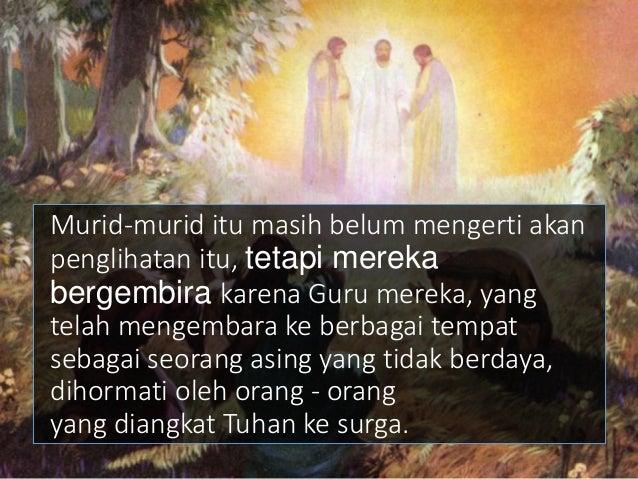 Tetapi sebelum mahkota diperoleh harus ada salib. Bukannya penobatan Kristus sebagai raja melainkan kematian yang akan dil...