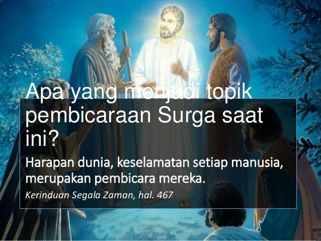 ketika mereka mendengar suara Allah, murid-murid itu pun jatuh tersungkur ke tanah. sampai Yesus mendekati mereka, dan men...