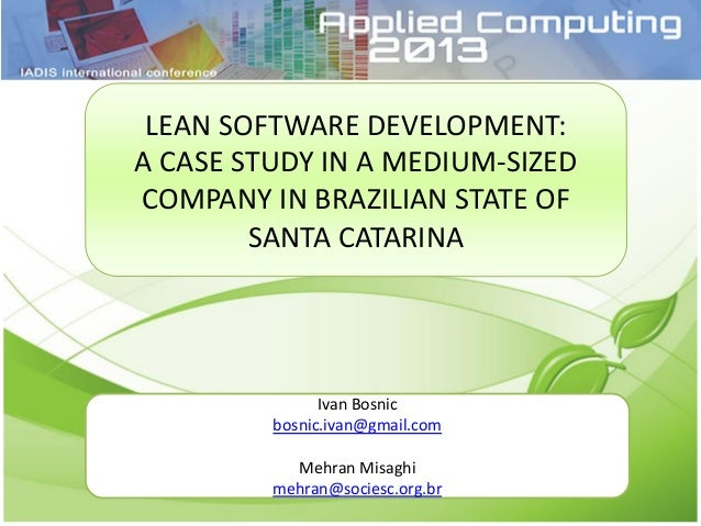 lean software system operations condition study