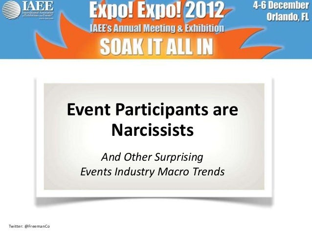 Event Participants are                           Narcissists                           And Other Surprising               ...