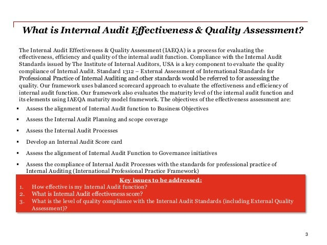determinants of internal audit effectiveness Abstract this study extends the literature by building a conceptual understanding of the determinants of the effectiveness of internal audit in organization.