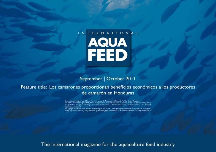 September   October 2011Feature title: Los camarones proporcionan beneficios económicos a los productores                 ...
