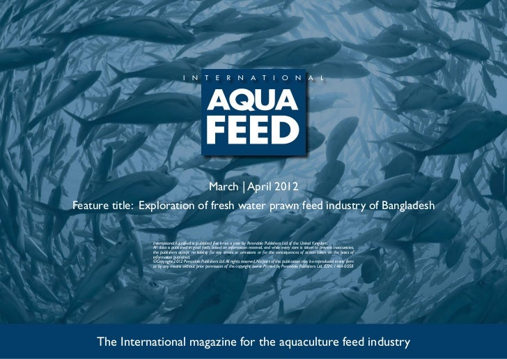 Exploration of fresh water prawn feed industry of