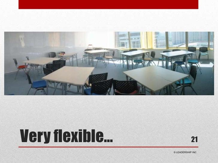 Very flexible…<br />21<br /> © LEADERSHIP INC<br />