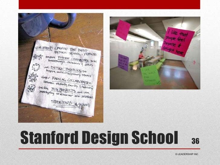 Stanford Design School<br />36<br /> © LEADERSHIP INC<br />
