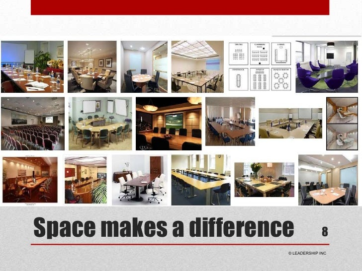Space makes a difference<br />8<br /> © LEADERSHIP INC<br />