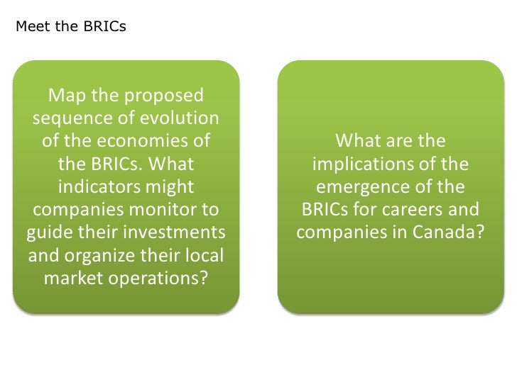 what are the implications of the emergence of the brics for careers and companies in your country Answer/solution case: the brics: vanguard of the revolution - download as word doc (doc / docx), pdf file (pdf), text file (txt) or read online.