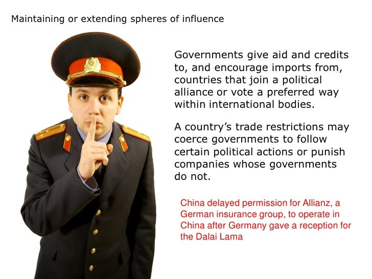 governmental influence on trade View test prep - governmental influence on trade from adms 3960 at york university governmental influence on trade -governmental policies can affect the ability of foreign producers to complete in a.