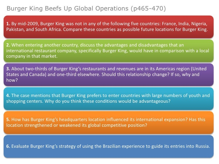 burger king operations strategy