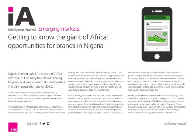 "Intelligence Applied Emerging markets Intelligence AppliedShare this Nigeria is often called ""the giant of Africa"", with o..."