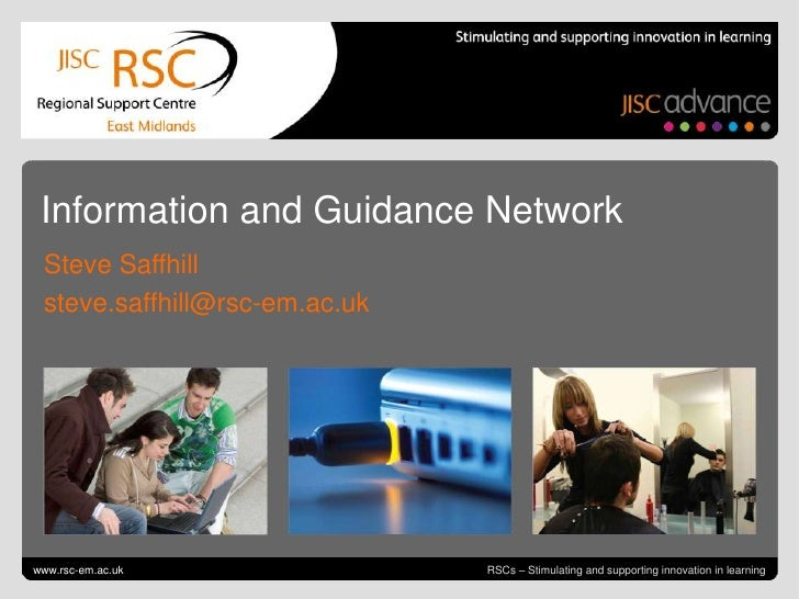 Go to View > Header & Footer to edit<br />October 5, 2011  slide 1<br />Information and Guidance Network<br />Steve Saffhi...