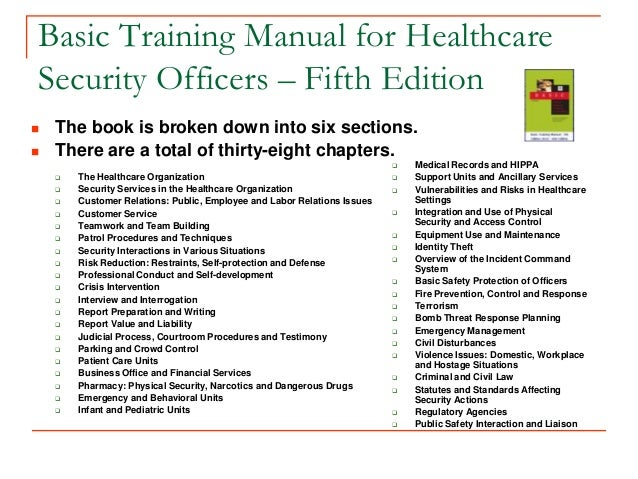 IAHSS Basic Security Officer Certification ...