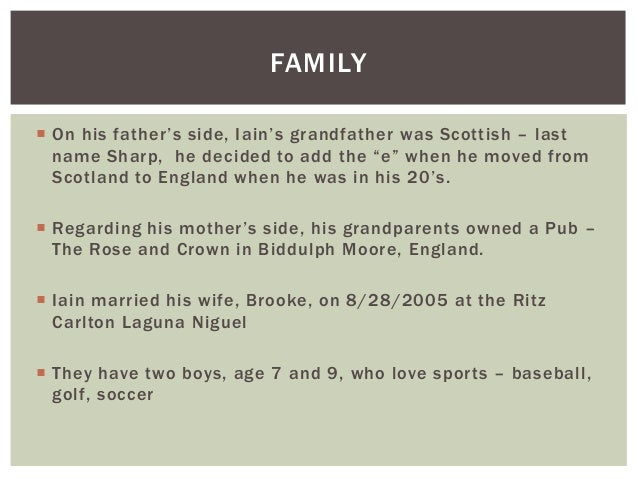 About Iain Sharpe, Financial Advisor Slide 3