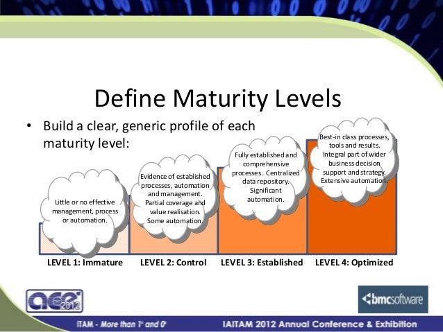 Gartner it asset management maturity model