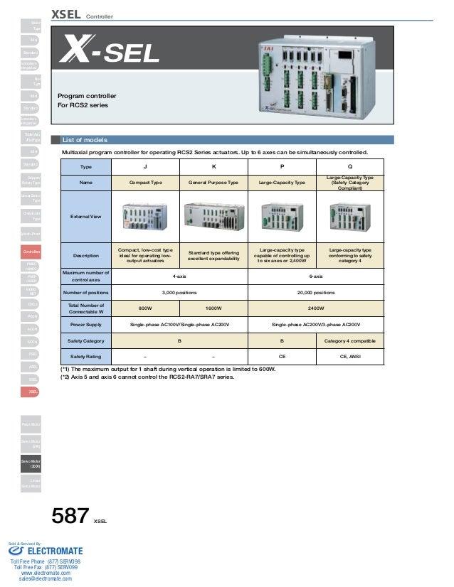 iai xsel controller specsheet rh slideshare net Buckeye CB Wiring Diagrams 4 Prong CB Wiring Diagrams