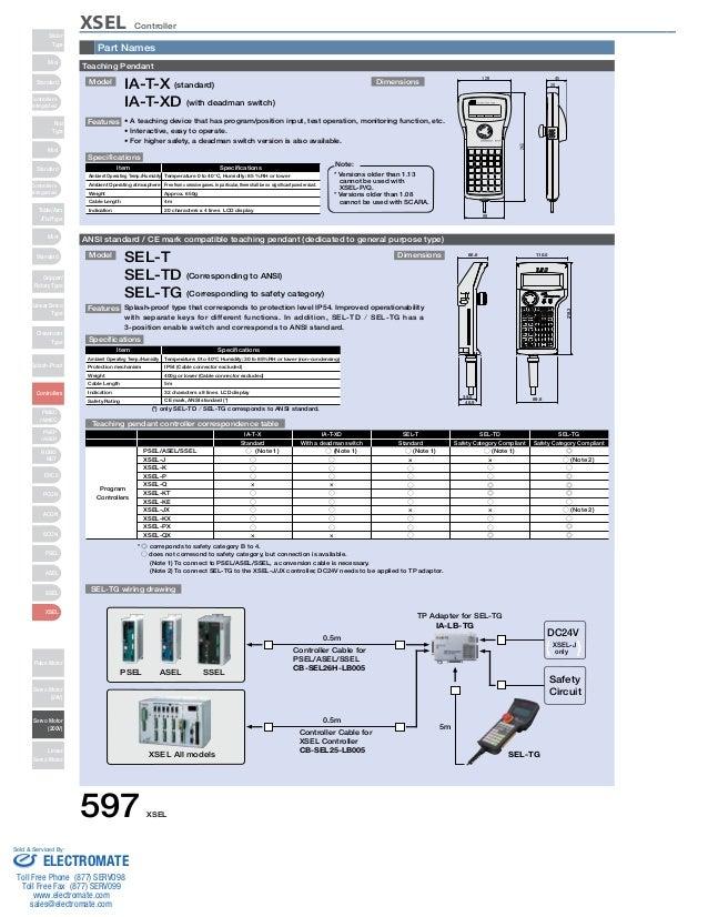 iai xsel controller specsheet rh slideshare net Night Owl Wiring-Diagram Mic Wiring Diagrams
