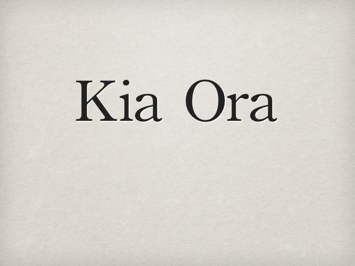 Kia Ora