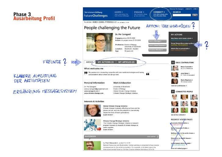"""MEINUNGEN?                Research & Strategie: """"Erst sukzessive haben sich              Nutzergruppen und konkretere Ziel..."""