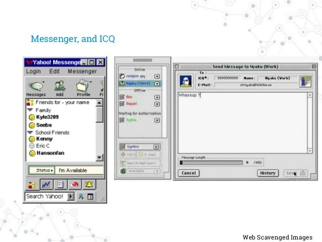 Messenger, and ICQ Web Scavenged Images
