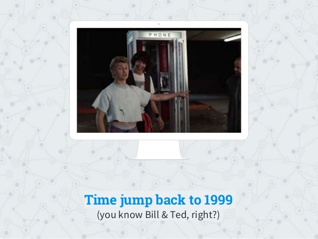 Place your screenshot here Time jump back to 1999 (you know Bill & Ted, right?)