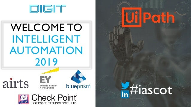WELCOME TO INTELLIGENT AUTOMATION 2019 #iascot