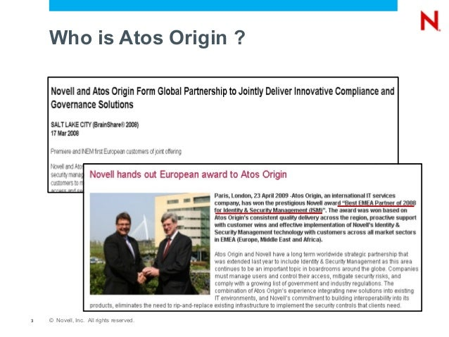 atos origin and int Event on the international sporting calendar its success depended on key it systems, such as results processing, broadcaster data feeds, accreditations, games logistics applications and public websites atos origin, under the direction of syocog technology, needed to ensure that compre- hensive security monitoring.