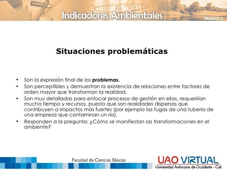 Situaciones problemáticas <ul><li>Son la expresión final de los  problemas. </li></ul><ul><li>Son perceptibles y demuestra...