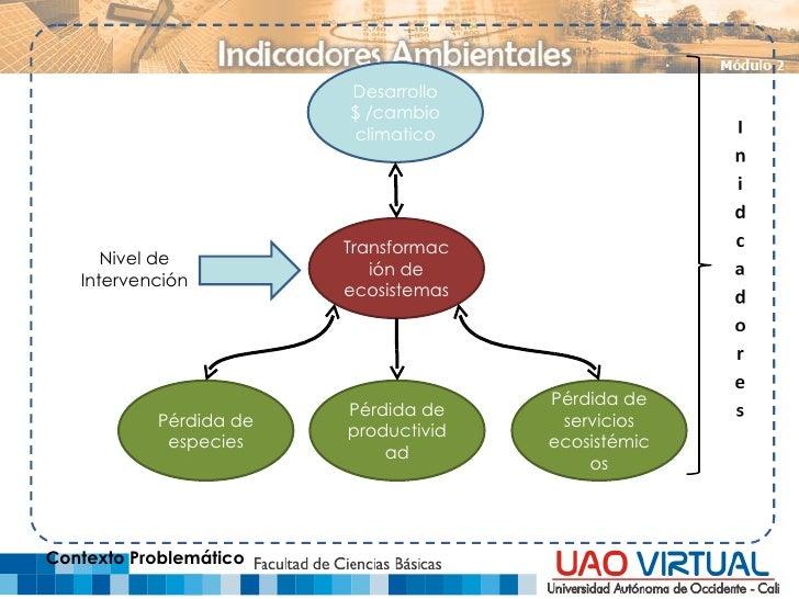 Desarrollo $ /cambio climatico Transformación de ecosistemas Pérdida de especies Pérdida de productividad Pérdida de servi...