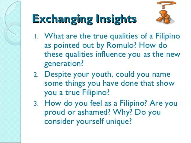 my feeling as a filipino 2 essay (long life): filipino culture in southeast louisiana always leaves me feeling closer to my filipino like all of the filipinos interviewed for this essay.