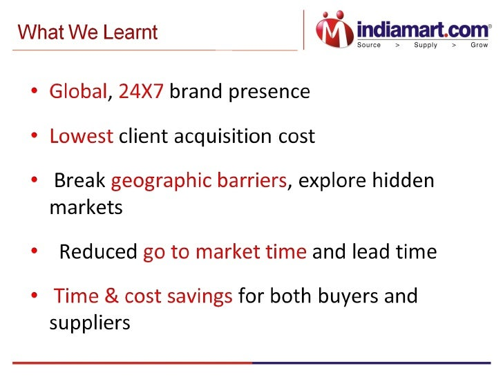 Being Online: It Actually Works! Presentation by Mr. Brijesh Agrawal, COO, IndiaMART.com