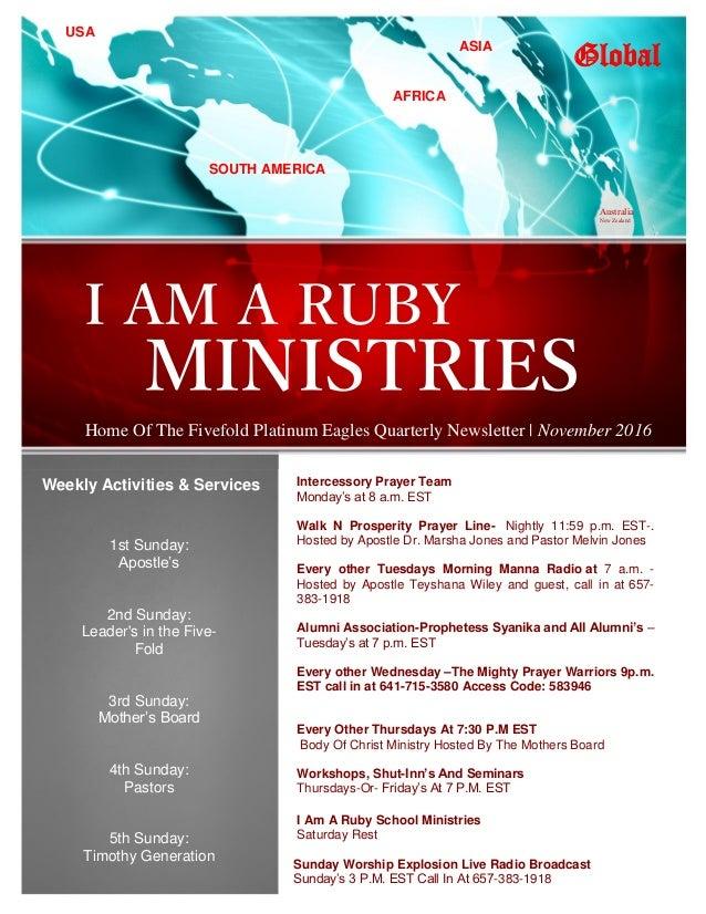 Intercessory Prayer Team Monday's at 8 a.m. EST Walk N Prosperity Prayer Line- Nightly 11:59 p.m. EST-. Hosted by Apostle ...