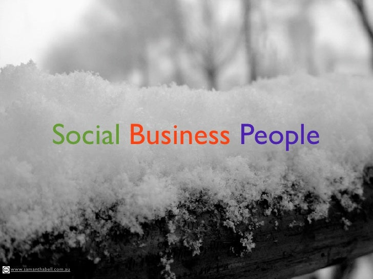Social Business People    www.samanthabell.com.au
