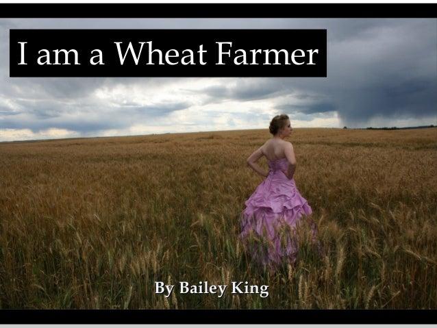 I am a Wheat Farmer I am a Wheat Farmer  By Bailey King