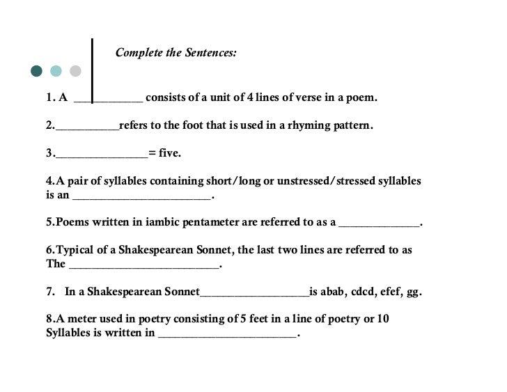 iambic pentameter of sonnet 18