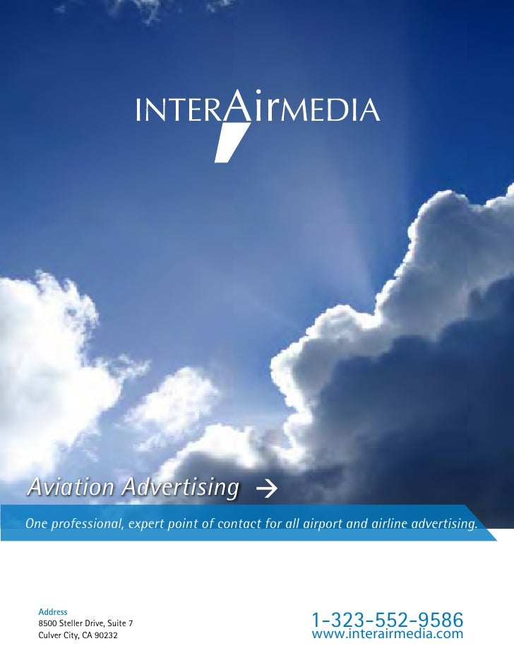 Aviation AdvertisingOne professional, expert point of contact for all airport and airline advertising.                    ...