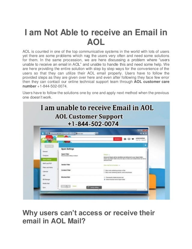 I am not able to receive an email in aol i am not able to receive an email in aol aol is counted in one of publicscrutiny Choice Image