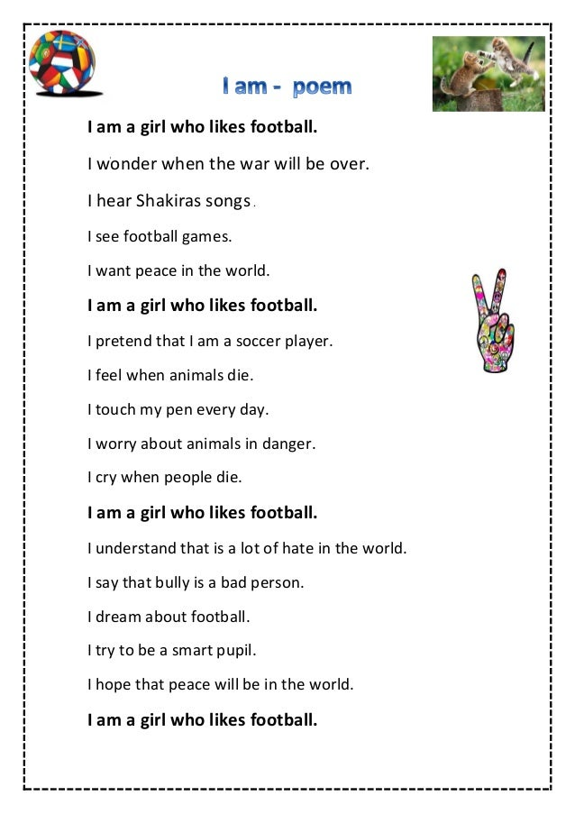 I am poem by Esther,grade 6