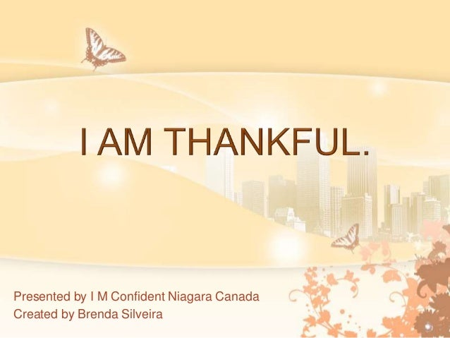 Presented by I M Confident Niagara Canada Created by Brenda Silveira
