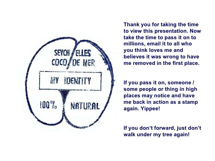 Thank you for taking the time to view this presentation. Now take the time to pass it on to millions, email it to all who ...