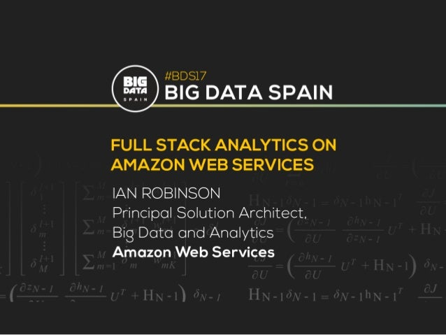 © 2015, Amazon Web Services, Inc. or its Affiliates. All rights reserved. Specialist Solutions Architect, Data and Analyti...
