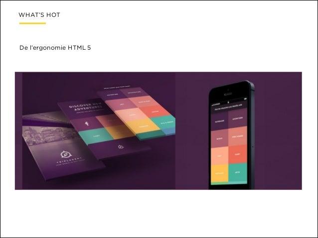 WHAT'S HOT  De l'ergonomie HTML 5