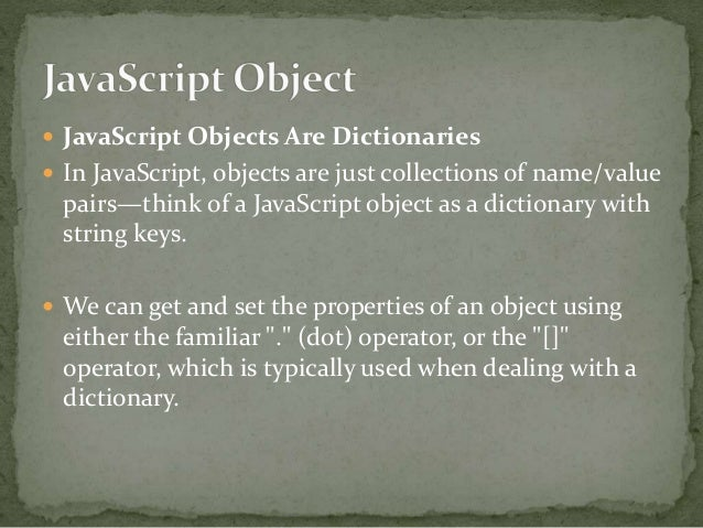 javascript get value in dictionary