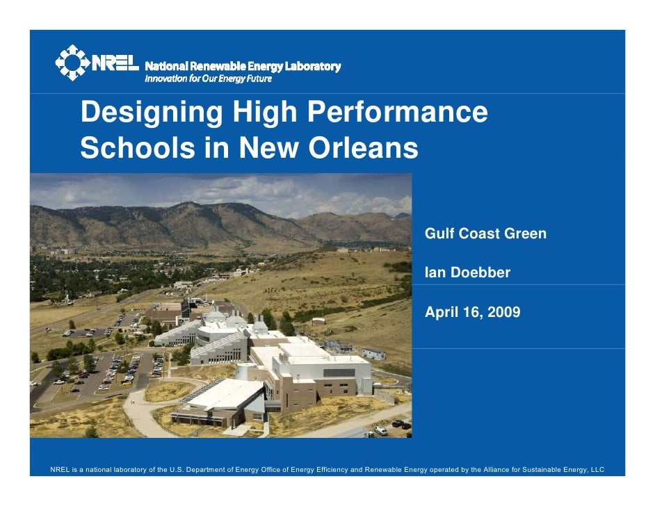 Designing High Performance         Schools in New Orleans                                                                 ...