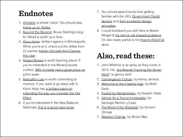 5 Provocations for Boston University's Aspiring Planning Types, November 2013